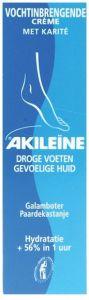 AKILEINE VOCHTINBRENGENDE CREME DROGE VOETEN GEVOELIGE HUID TUBE 50 ML