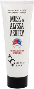 ALYSSA ASHLEY MUSK HAND & BODYLOTION TRIPLE ACTION COMPLEX TUBE 250 ML