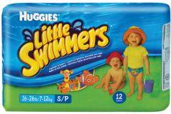 HUGGIES LITTLE SWIMMERS 7-12 KG ZWEMLUIERS PAK 12 STUKS