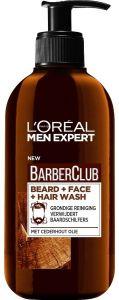 L'OREAL MEN EXPERT BARBERCLUB BEARD + FACE + HAIR WASH POMP 200 ML