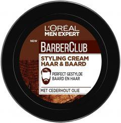 L'OREAL MEN EXPERT BARBERCLUB STYLING CREAM HAAR & BAARD POT 75 ML