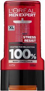 L'OREAL MEN EXPERT STRESS RESIST SHOWER GEL DOUCHEGEL FLACON 300 ML