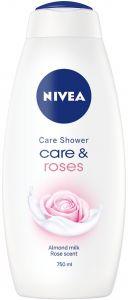 NIVEA CARE & ROSES DOUCHECREME FLACON 750 ML