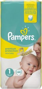 PAMPERS NEW BABY 1 2-5 KG NEW BORN LUIERS PAK 44 STUKS