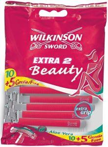 WILKINSON SWORD EXTRA 2 BEAUTY WEGWERPMESJES PAK 15 STUKS