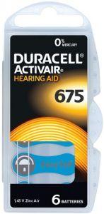 DURACELL EASYTAB ACTIVAIR HEARING AID 675 GEHOORBATTERIJ PAK 6 STUKS