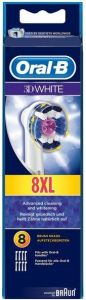 ORAL-B 3D WHITE OPZETBORSTELS PAK 8 STUKS