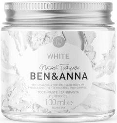 BEN & ANNA NATURAL TOOTHPASTE WHITE TANDPASTA POT 100 ML