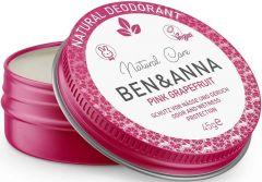 BEN & ANNA NATURAL DEODORANT PINK GRAPEFRUIT DEO CREME BLIKJE 45 GRAM