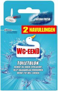 WC EEND OCEAN FRESH NAVULLINGEN TOILETBLOK PAK 2 X 40 GRAM