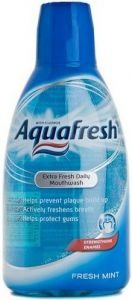 AQUAFRESH EXTRA FRESH DAILY MOUTHWASH FRESH MINT MONDWATER FLACON 500 ML