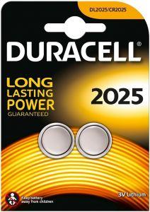 DURACELL 2025 3V LITHIUM KNOOPCELBATTERIJ PAK 2 STUKS