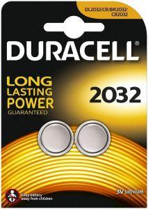 DURACELL 2032 3V LITHIUM KNOOPCELBATTERIJ PAK 2 STUKS