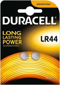 DURACELL LR44 1.5 ALKALINE KNOOPCELBATTERIJ PAK 2 STUKS