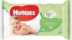 HUGGIES NATURAL CARE BABYDOEKJES PAK 56 STUKS