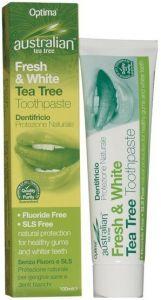 AUSTRALIAN TEA TREE FRESH & WHITE TEA TREE TOOTHPASTE TANDPASTA TUBE 100 ML