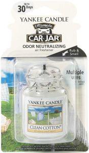 YANKEE CANDLE ULTIMATE CAR JAR CLEAN COTTON AUTO LUCHTVERFRISSER PAK 30 GRAM