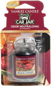 YANKEE CANDLE ULTIMATE CAR JAR BLACK CHERRY AUTO LUCHTVERFRISSER PAK 30 GRAM