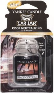YANKEE CANDLE ULTIMATE CAR JAR BLACK COCONUT LUCHTVERFRISSER PAK 30 GRAM