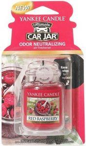 YANKEE CANDLE ULTIMATE CAR JAR RED RASPBERRY AUTO LUCHTVERFRISSER PAK 30 GRAM