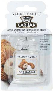 YANKEE CANDLE ULTIMATE CAR JAR SOFT BLANKET AUTO LUCHTVERFRISSER PAK 30 GRAM