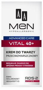 AA MEN ADVANCED CARE VITAL 40+ ANTI-WRINKLE FACE CREAM GEZICHTSCREME POMP 50 ML