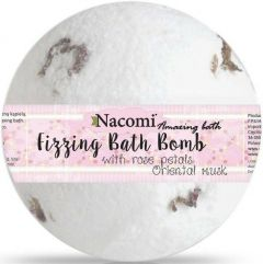 NACOMI FIZZING BATH BOMB ROSE PETALS ORIENTAL MUSK BATH BALL 130 GRAM