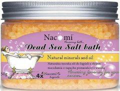 NACOMI DEAD SEA SALT BATH ORANGE VANILLA ICE CREAM BADZOUT POT 450 GRAM