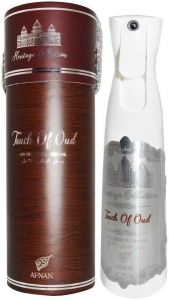 AFNAN HERITAGE COLLECTION TOUCH OF OUD AIR FRESHENER LUCHTVERFRISSER SPUITBUS 300 ML