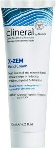 AHAVA CLINERAL X-ZEM HAND CREAM HANDCREME TUBE 125 ML