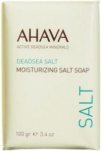 AHAVA DEADSEA SALT MOISTURIZING SALT SOAP ZEEP WIKKEL 100 GRAM