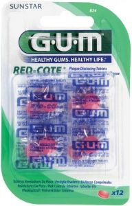 GUM RED COTE PLAKVERKLIKKERS TABLETTEN PAK 12 STUKS