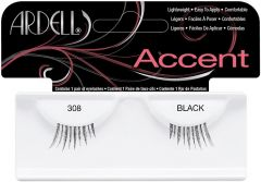 ARDELL ACCENT 308 BLACK LASHES NEPWIMPERS 1 PAAR