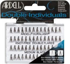 ARDELL DOUBLE INDIVIDUALS MEDIUM BLACK LASHES NEPWIMPERS 56 STUKS