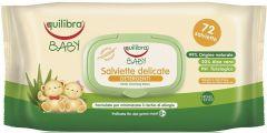 EQUILIBRA BABY GENTLE CLEANSING WIPES BABYDOEKJES PAK 72 STUKS
