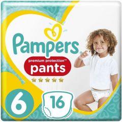 PAMPERS PREMIUM PROTECTION 6 X LARGE 15+ KG LUIERS PAK 16 STUKS