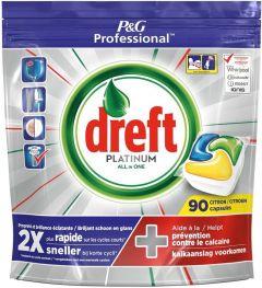 DREFT PLATINUM ALL IN ONE VAATWASTABLETTEN CITROEN PAK 90 STUKS