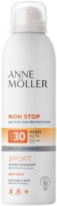ANNE MOLLER NON STOP SPORT SPF30 INVISIBLE MIST ZONNEBRAND SPUITBUS 200 ML