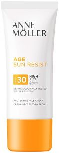 ANNE MOLLER AGE SUN RESIST SPF30 PROTECTIVE FACE CREAM ZONNEBRAND TUBE 50 ML