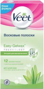 VEET EASY-GELWAX WAXSTRIPS DOOSJE 12 STUKS