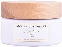 ADOLFO DOMINGUEZ AGUA FRESCA DE ROSAS BODY CREAM BODYCREME POT 300 GRAM