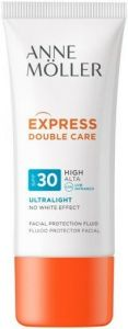 ANNE MOLLER EXPRESS DOUBLE CARE SPF30 ULTRALIGHT FACIAL PROTECTION FLUID ZONNEBRAND TUBE 50 ML