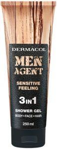 DERMACOL MEN AGENT SENSITIVE FEELING SHOWER GEL DOUCHEGEL TUBE 250 ML