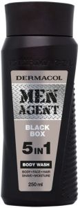 DERMACOL MEN AGENT BLACK BOX BODY WASH DOUCHEGEL FLACON 250 ML