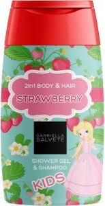 GABRIELLA SALVETE STRAWBERRY 2IN1 BODY & HAIR SHOWER GEL & SHAMPOO FLACON 300 ML