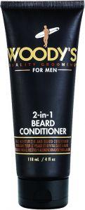 WOODY'S FOR MEN 2-IN-1 BEARD CONDITIONER TUBE 118 ML