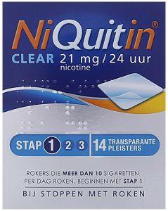 NIQUITIN CLEAR 21 MG NICOTINE PLEISTERS DOOSJE 14 STUKS