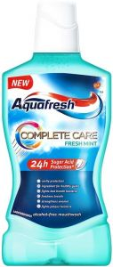 AQUAFRESH COMPLETE CARE FRESH MINT MONDWATER FLACON 500 ML