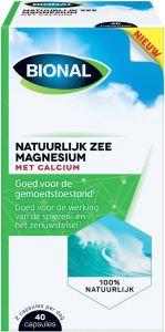 BIONAL NATUURLIJK ZEE MAGNESIUM MET CALCIUM CAPSULES DOOSJE 40 STUKS