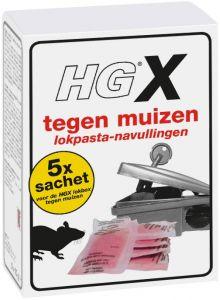 HG X TEGEN MUIZEN LOKPASTA NAVULLINGEN PAK 5 STUKS